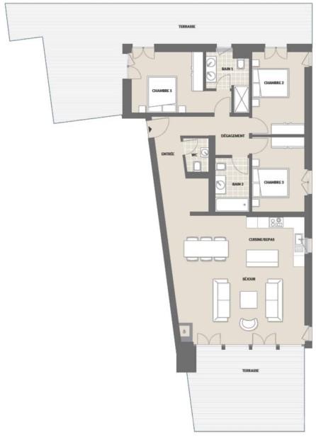 N°A6, appartement de 4.5 pièces